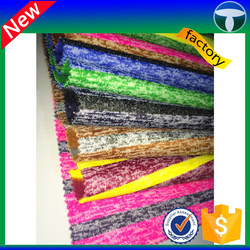 100 polyester stripe sweater knit fabric for fleece fabric