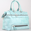 100% Genuine Blue Leather Handbags Stylish Latest Designs 2014