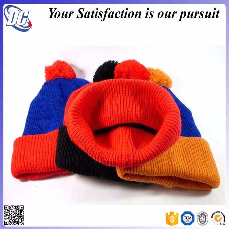 Free plain pom pom beanie hats wholesale