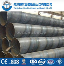 SSAW carbon welded steel pipe spiral welded steel tube