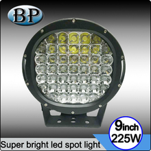 "225w Round Crees LED spot light 10"" spot LED Work light off road fog lights roof bar bumper 4x4 utv"