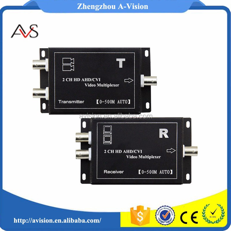 2ch AHD/CVI Analog video extender transmitter over coax