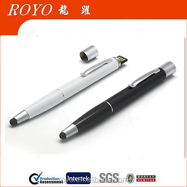2016 new 4 in 1 high quality metal ball pen and stylus pen with power bank and usb