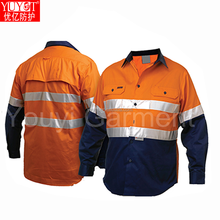 60% modacrylic/38% cotton/2% anti static Flame Retardant Fleece Jacket, with FR reflective tapes and FR sewing thread