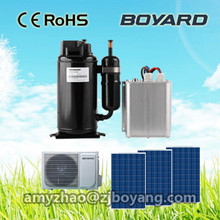DC 48v solar power air conditioner for sleeper bus dc solar powered air conditioners 12v/24v refrigerator freezer