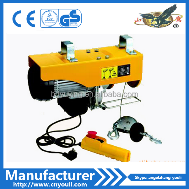 Small lifting equipment PA1000 electric mini wire rope hoist