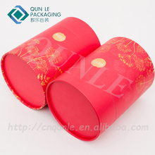 Custom Print Paper Material Round Flower Box Cylinder Paper tube packaging box
