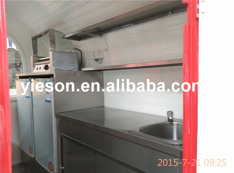 Yieson Best Quality Fast Food Trailer Food Van Food Truck