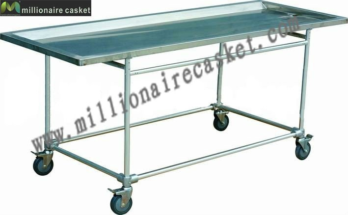 Funeral embalming table