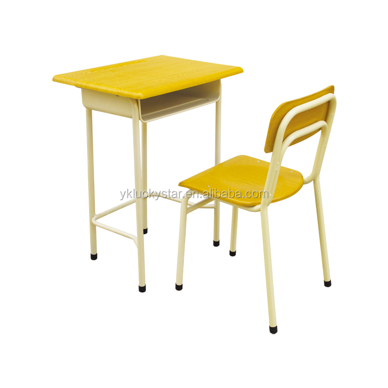 single school desk and chair/wooden table/home desk