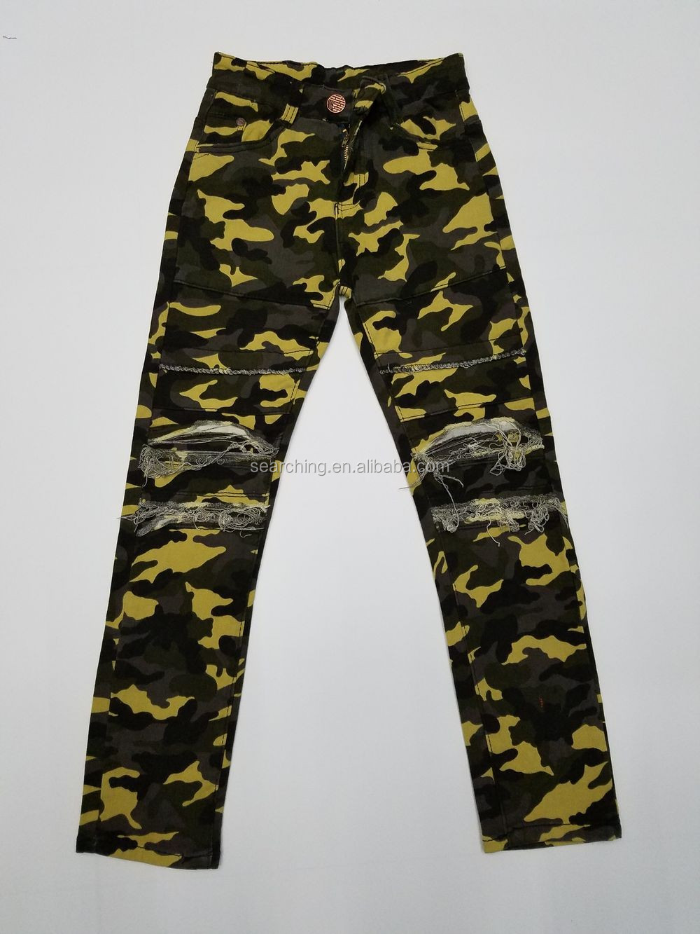 Hot Sale Fashionable Outdoor Casual cargo Camouflage kids boys Military Style Cargo Pants camo pants