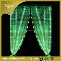 2015 fashion LED glow fabric china led star curtain screen display