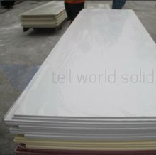 White acrylic solid surface slab , polystone solid surface