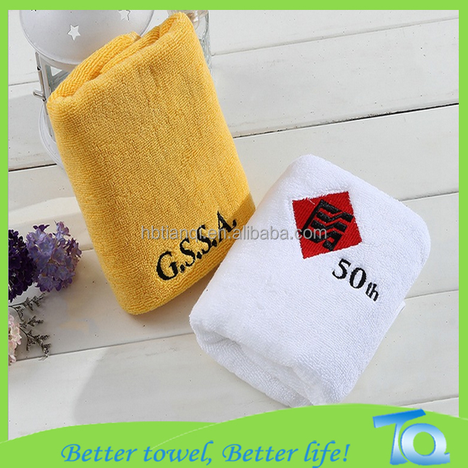 Logo/pattern Embroidered 100% Cotton Short Sport Multifunction Towel