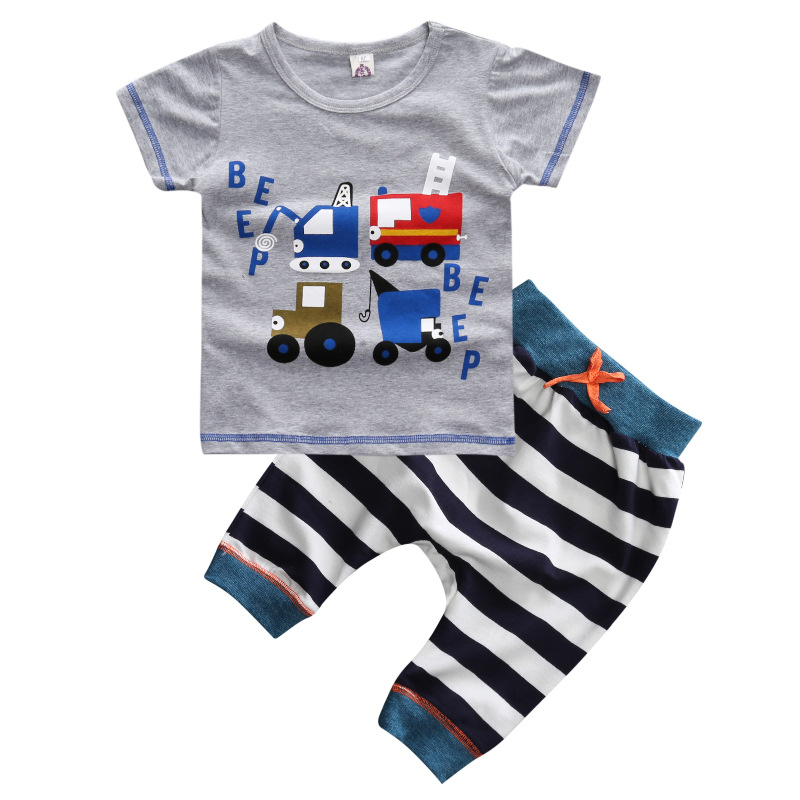 Free Shipping Boutique Kid Clothes 2016 Summer Boys Pants And Shirt