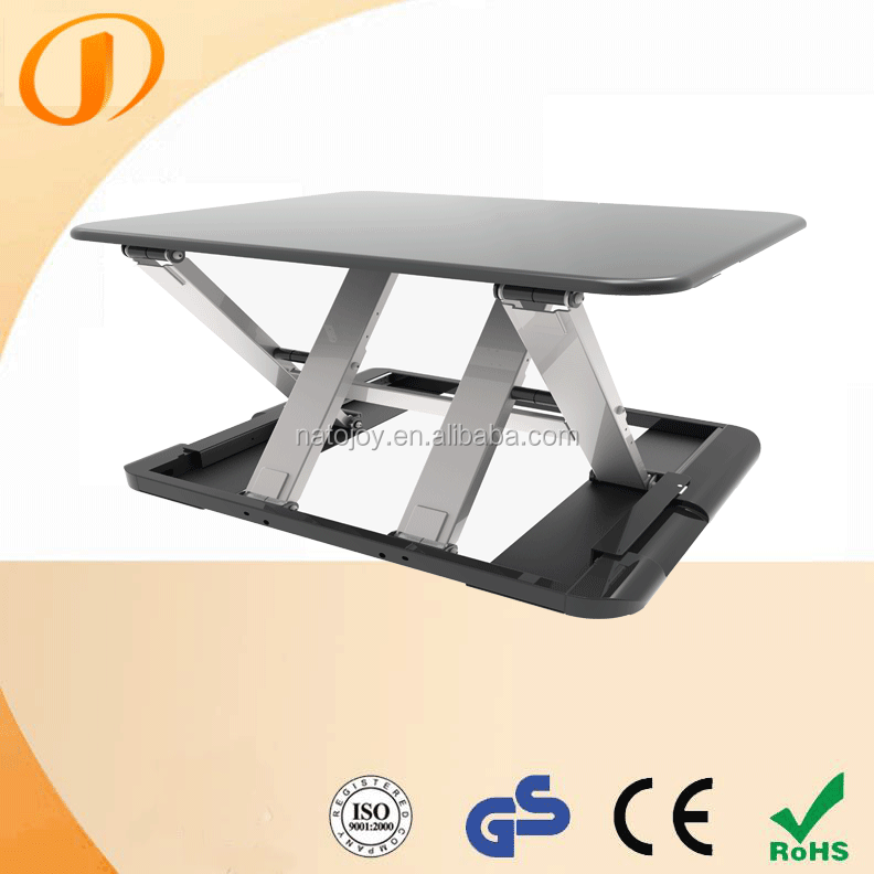 Space Saving Foldable Black Desktop Lifting Up Table Stand Up and Down Desk LD04