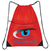 Waterproof durable rolling backpack/drawstring pouch backpack travel bag