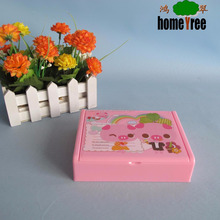 pink plastic storage box for jewel