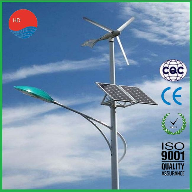New Energy 5 Year Warranty 6m Wind Solar Street Light
