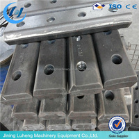 Fishplate for steel rail track joint