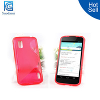 S Line Gel Jelly TPU Cover Case for lg google nexus 4 e960 back cover