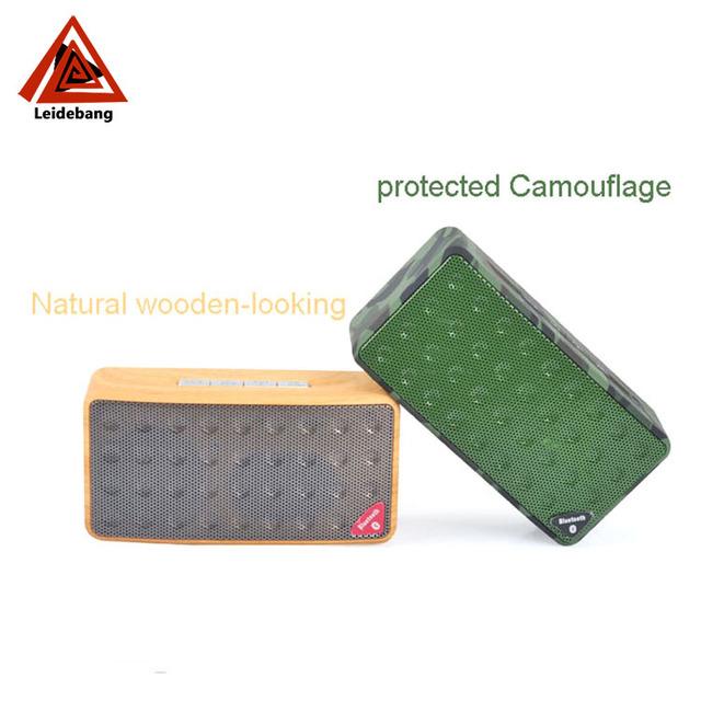 Chinese merchandise camouflage wood finish audio speaker