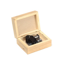 Promotional gift nature wood custom song hand crank music box