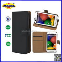 Wallet Leather Flip Stand Case Card Slots Cover for Motorola Moto E