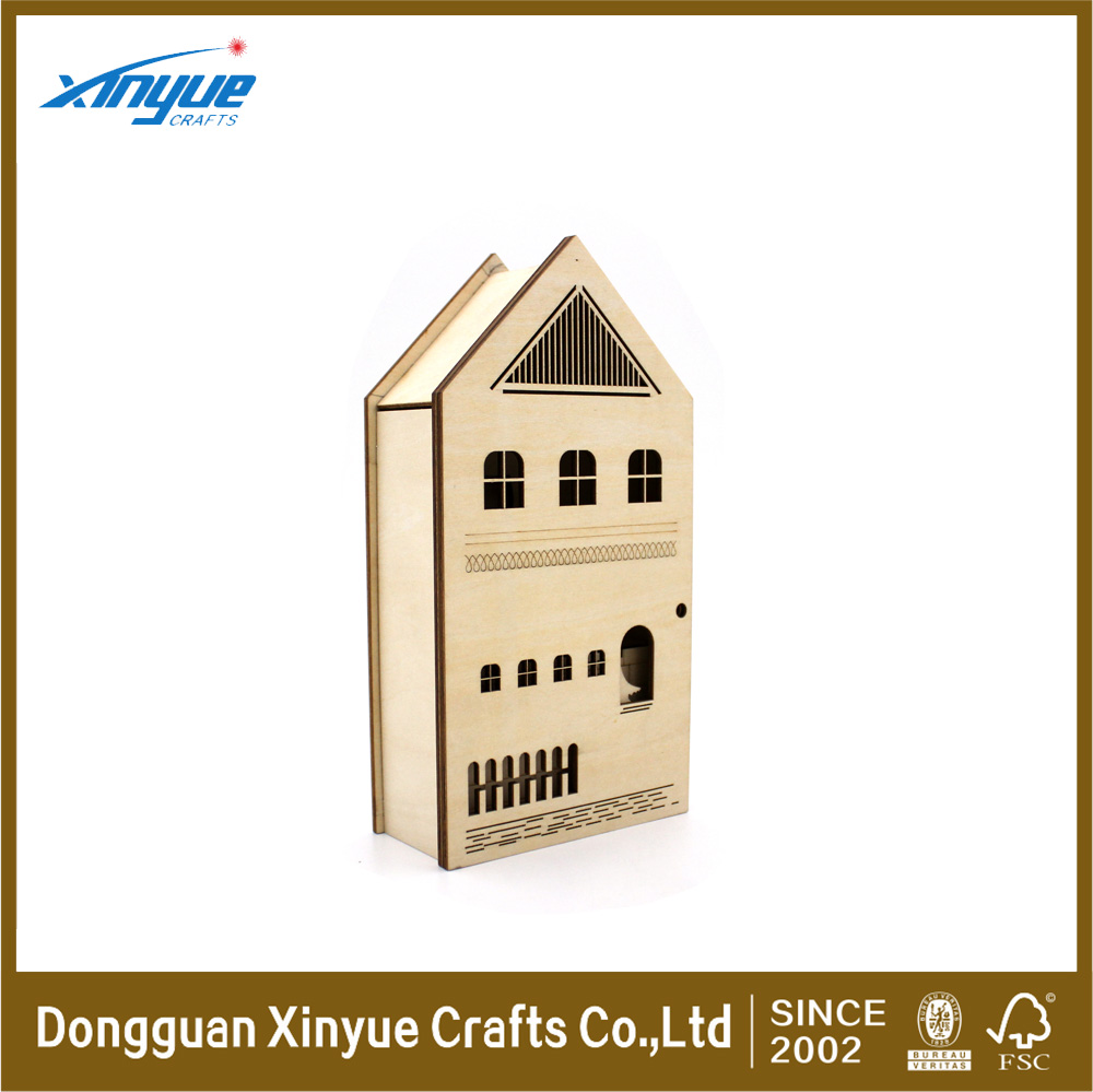 Wooden Christmas Display Boxes Natural Craft Decorate Paint