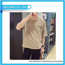 cheap slim fit high quality wholesale individual design low price black yellow striped t shirt