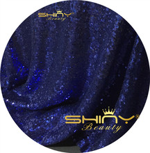 Ready To Ship, midnight blue Sequin Mesh Partywear Fabric, Glitzy Sequin Fabric, Formal Dress Fabric