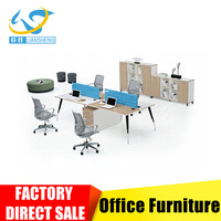 MFC modular office Workstation for 4 person with pedestal