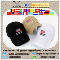 fashion Cotton Polo Style Baseball Hats custom embroidery country flag hat