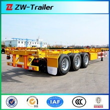 3 Axles Skeleton Container Semi Trailer for Shipping Cont/Terminal container semi trailer to transport containers/Tri-axles type