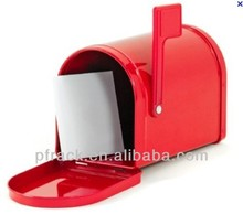 Metal mail newspaper box