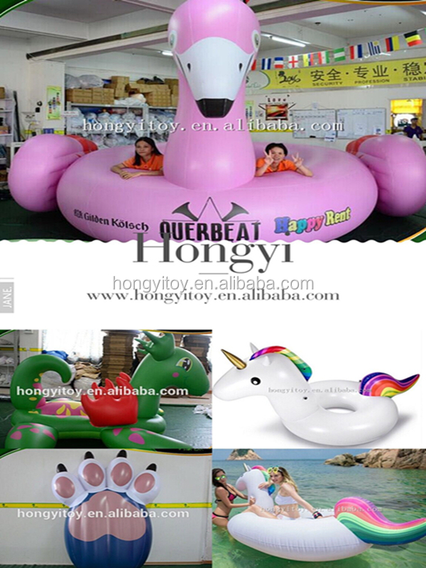 Colorful Inflatable Air Ring Beach Float Inflatable Swim Ring Water Floating Inflatable Pool Toy