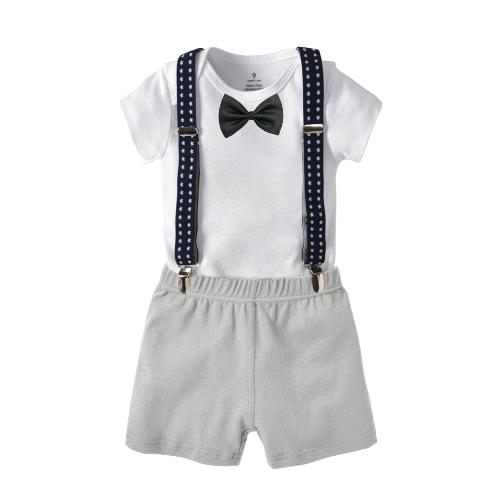Online Store Wholesale Korea Design Summer Baby Boy Clothes Clothing Cotton Sets Made In China