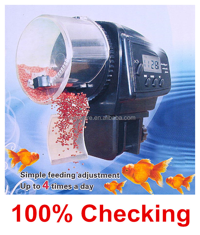 Hot sale automatic pond fish food feeder automatic fish feeder auto fish feeder