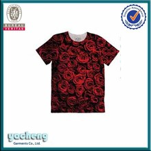 Customized 3D sublimation short sleeve tshirt can make fabric as your request custom tshirts with custom labels