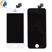 Cell phone spare parts for iphone 5 lcd backlight,for iphone 5 screen and digitizer oem