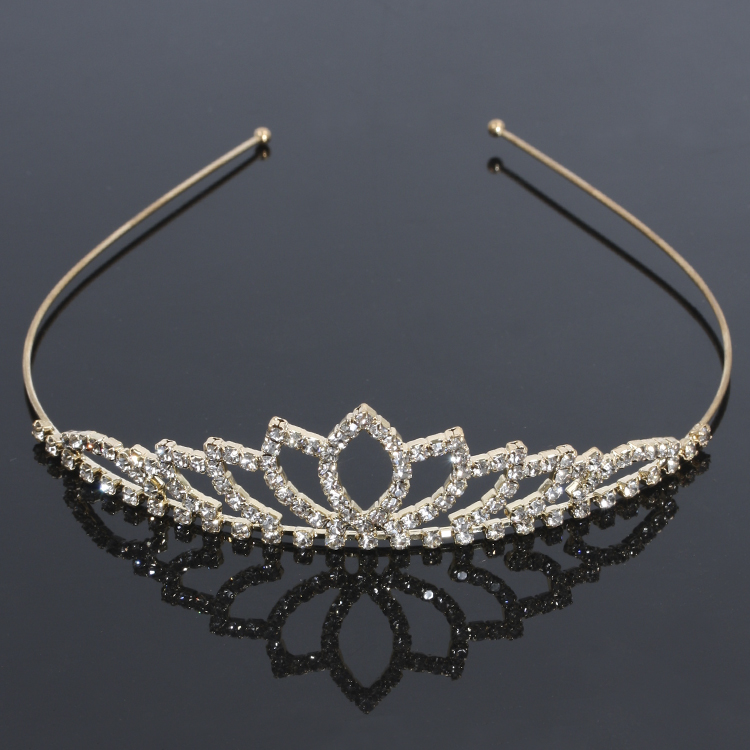 hot fashion silver plated rhinestone bride party beauty pageant <strong>crown</strong> with princess combs