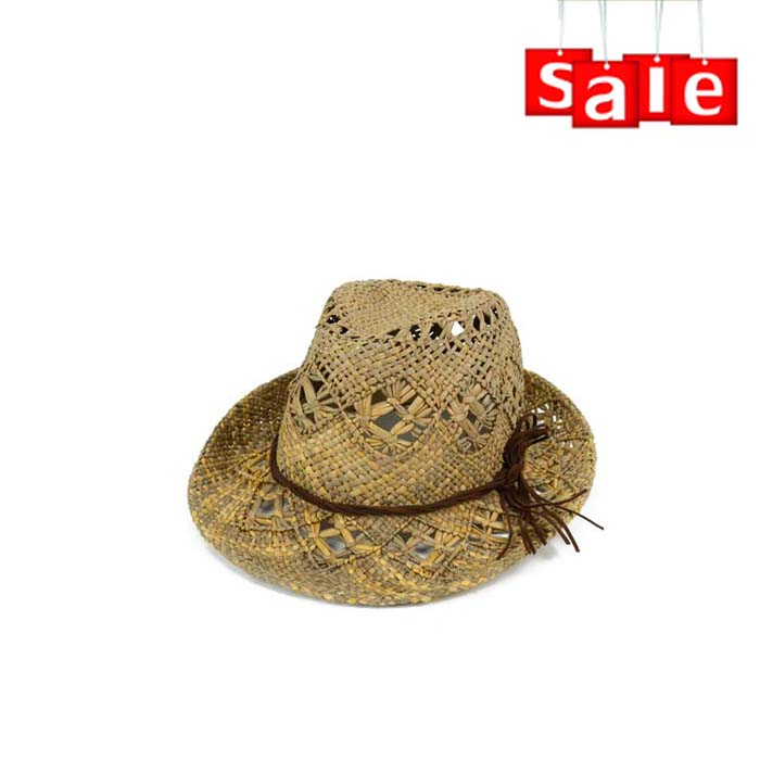 Wholesale hand made chinese straw hat, straw cowboy hat