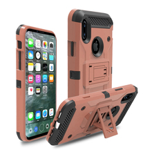 Wholesale Tank Combo belt clip tough design cell phone cover case for iphone 8