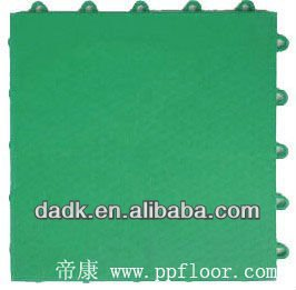 13mm indoor square interlocking plastic floor tile/PP basketball court flooring