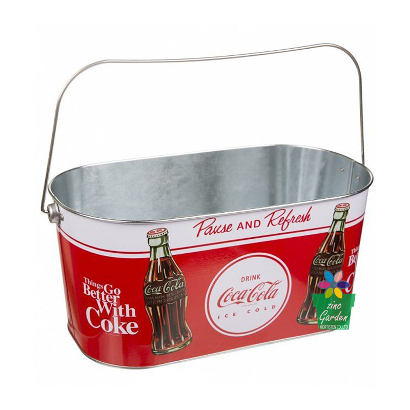 2017 New sale square metal Ice Bucket cooler Beer and Wine ice pail with handle