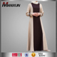 2016 Malaysia Jubah New Contrast Color Muslim Dress For Women Khalida Free Size Indian Abaya