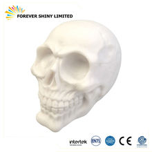 Custom Logo Novelty Halloween Party Jokes Trick Plastic Prank Toy Squeeze Stretchy Stress Bloody Horrible Skull Head with box