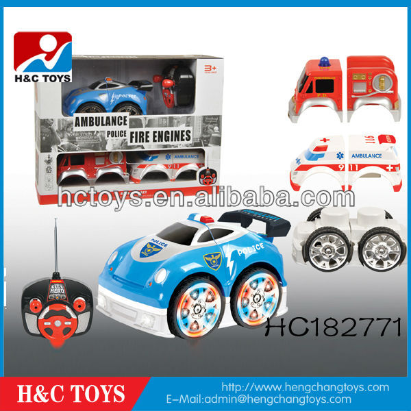 4 CH RC cartoon police car with musica and light HC182771