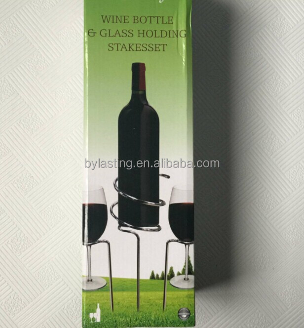 Wine Glass Holding stakes set Wine Holder