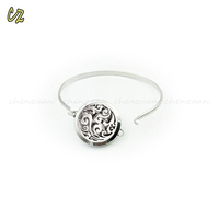 New adjustable stainless steel jewelry diffuser bracelet aromatherapy for women
